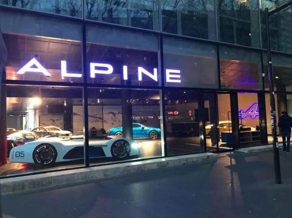 VIRAGE8;ALPINE;SHOWROOM;FRANCE;BOULOGNE;A110;