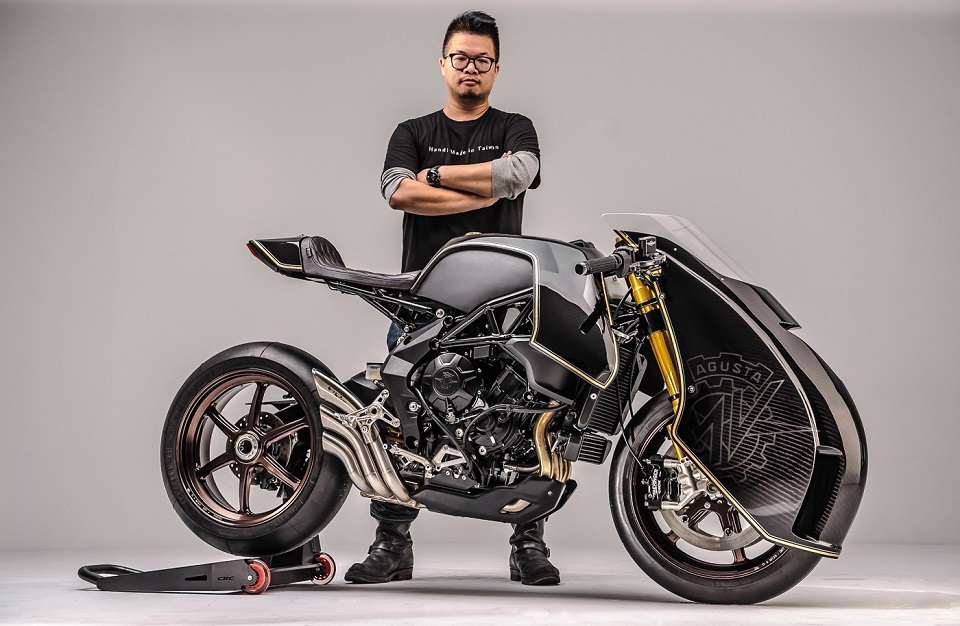 VIRAGE8 . MOTORCYCLE . CUSTOM . ROUGH CRAFT . BALLISTIS TRIDENT . MV AGUSTA . BRUTALE . TAIWAN WORKSHOP;